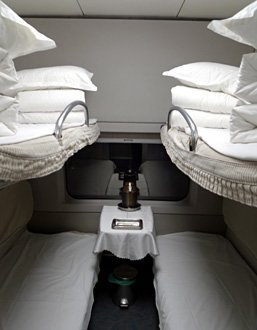 4-berth soft sleeper compartment