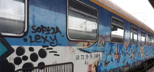 The train from Belgrade to Sofia