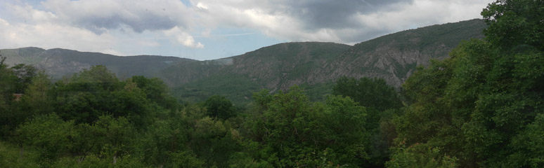 Scenery from the train between Nis & Dimitrovgrad