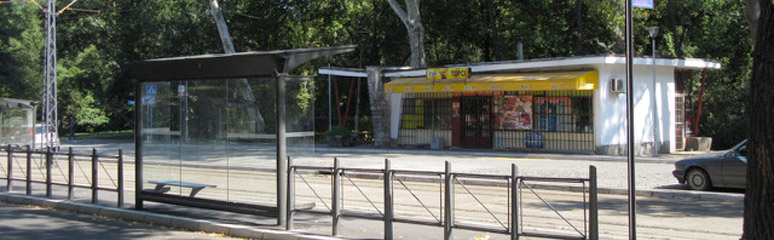Tram stop outside Topcider station