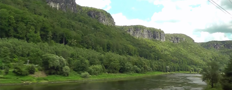More cliffs along the river Elbe