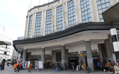 how to get from brussels midi to brussels central station