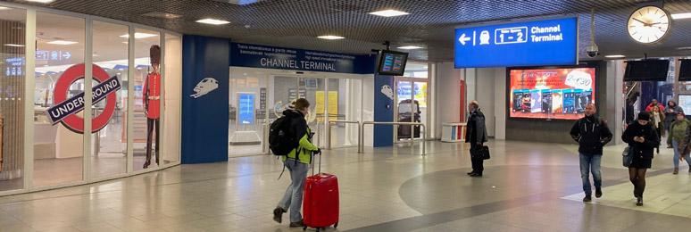 Bruxelles Midi entrée du terminal Eurostar