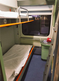 2-bed sleeper on Budapest-Berlin train