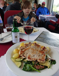 Lunch in a Czech restaurant car