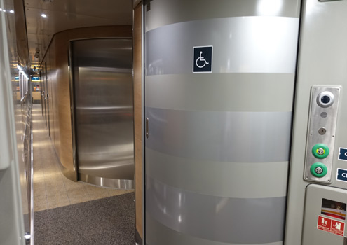 Accessible toilet on Caledonian Sleeper