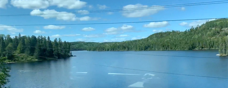 Scenery from the train in the Shield