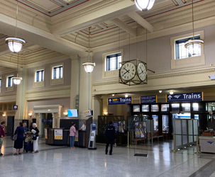 Vancouver Pacific Central station - interior