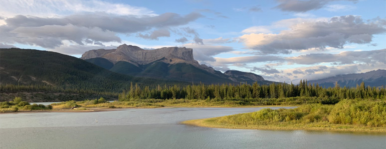 Roche Miette in Jasper National Park, seen from the train