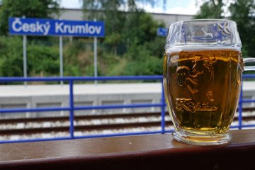 A beer at the station!