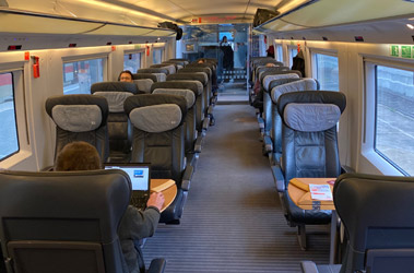1st class on the Frankfurt-Brussels ICE3M train
