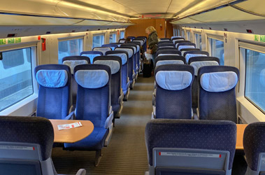 2nd class on the Frankfurt-Brussels ICE3M train