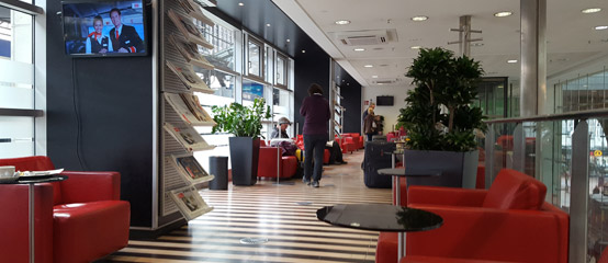 Inside the DB Lounge at Cologne Hbf