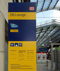 Entrance to DB Lounge at Cologne Hbf