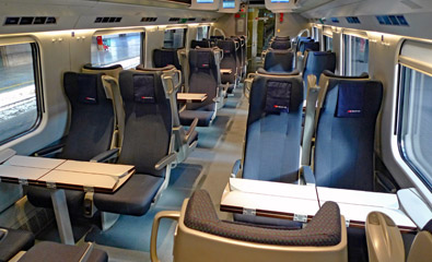 1st class seats on an ETR610 train
