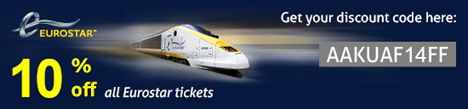 Coupons for eurostar tickets