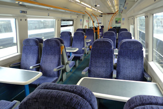 Seats on the London to Dover train