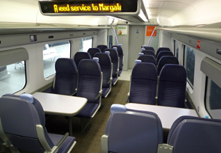Seats on the high-speed train from London to Dover
