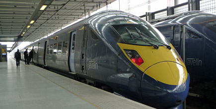 High-speed train from London St Pancras to Dover