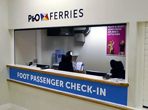 P&O Ferries foot passenger check-in