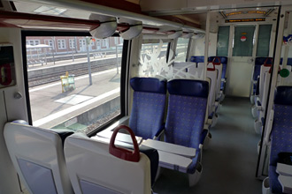 Inside the TER train from Calais to Boulogne