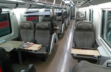 Frecciarossa 500 train business (1st) class