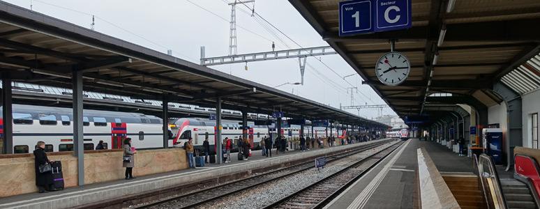 日内瓦车站月台