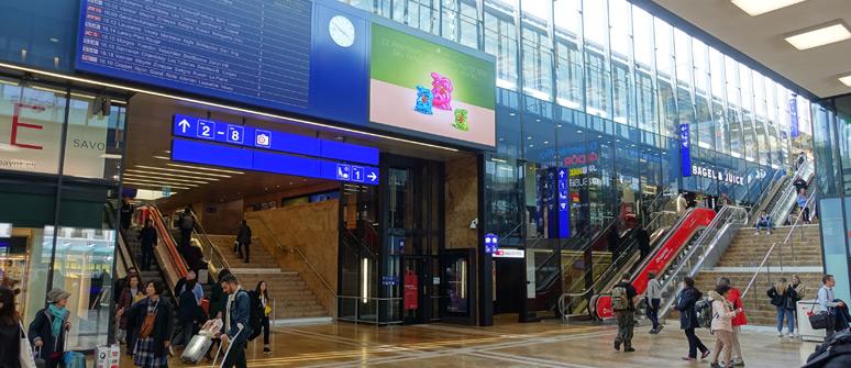 日内瓦车站内部