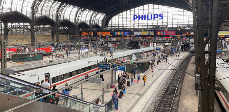 Inside Hamburg Hbf