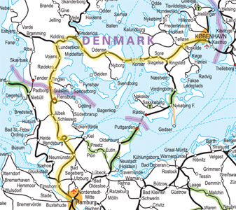 Map Of Northern Germany And Denmark.Hamburg To Copenhagen By Eurocity Train From 29 90