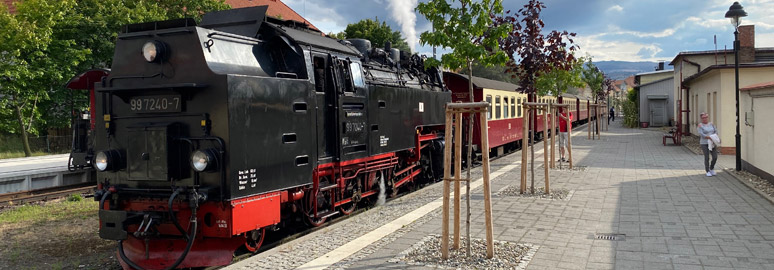 The train from Brocken arrived at Wernigerode