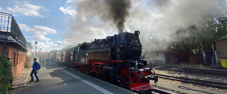 Morning train from Wernigerode to the Brocken about to leave