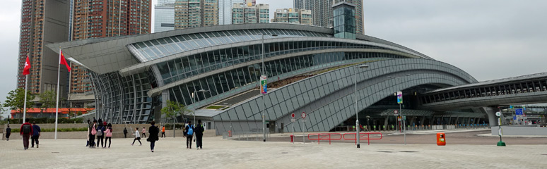 Hong Kong West Kowloon station, at ground level