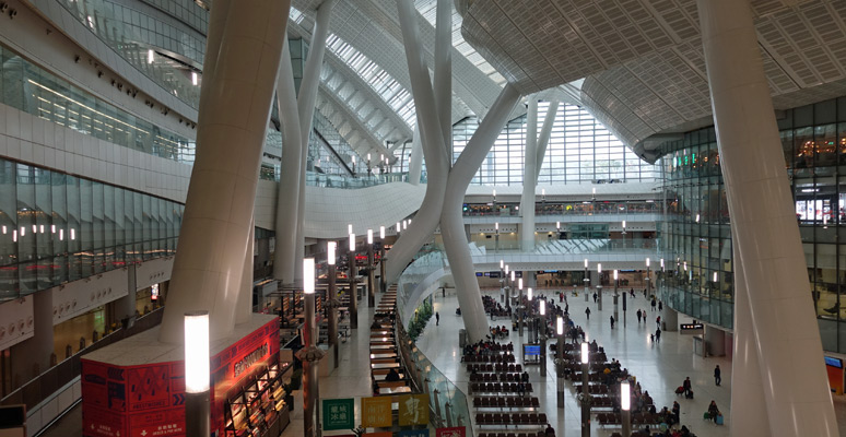 Inside Hong Kong West Kowloon station