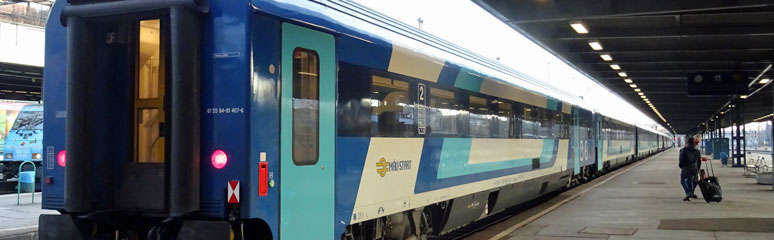The EuroCity train Hungaria between Berlin & Budapest