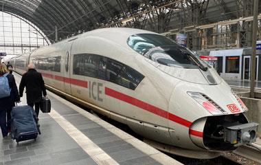 "High-speed ICE3 train at Frankfurt"" width=""380"" height=""240"" class=""shadow"