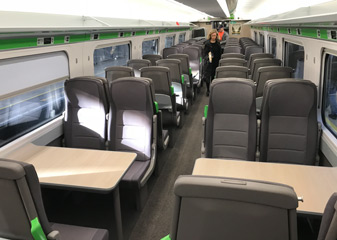 Inside a GWR train from London to Cardiff
