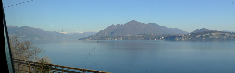 Lake Maggiore, seen from the train