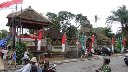 Royal palace at Ubud