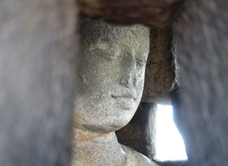 Borobudur temple, carved figure