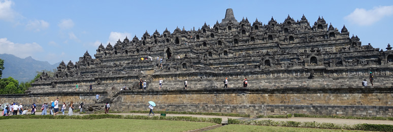 Borobudur temple, wide shot