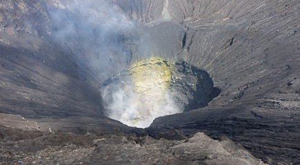 Mt Bromo, the crater