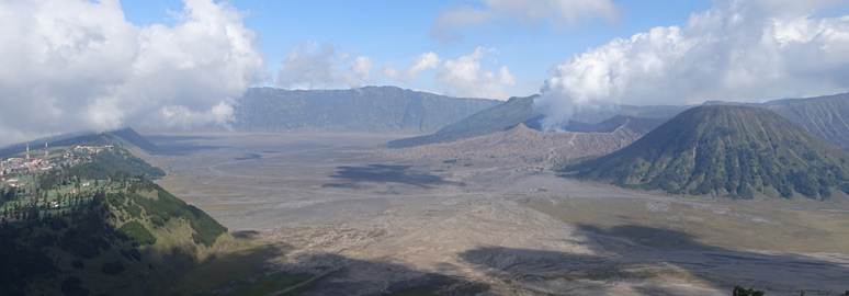 Overview of Mt Bromo area