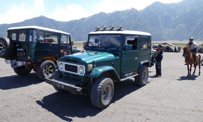 Old Toyota Landcruisers at Mt Bromo