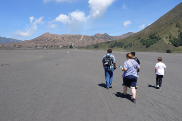 Walking the last 1.5km to Mt Bromo