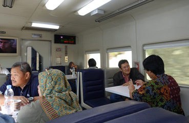 Buffet car on the Argo Dwipangga train