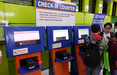Check-in machines