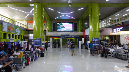 Inside Gambir station - south concourse
