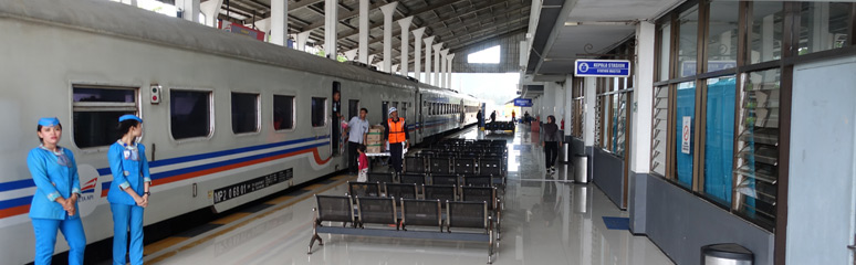 The train arrived at Banyuwangi Baru station