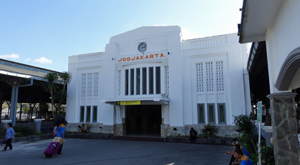 Yogyakarta station, north entrance